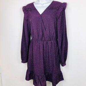 ⭐️ Romantic Purple Long Sleeve Dress
